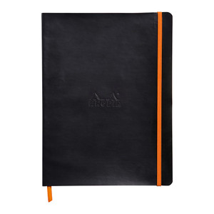 Rhodiarama Softcover Notebook B5 Dotted Black