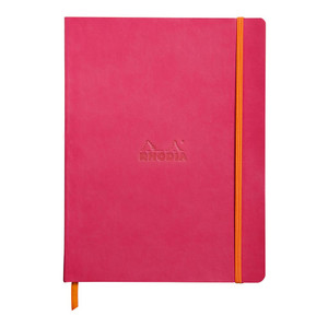 Rhodiarama Softcover Notebook B5 Dotted Raspberry