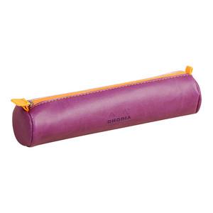 Rhodiarama Pencil Case Round Purple