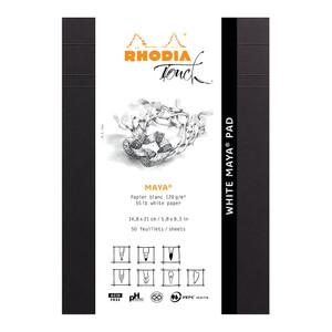 Rhodia Touch Maya White Pad A5 Blank