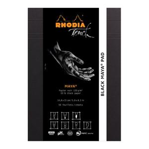 Rhodia Touch Maya Black Pad A5 Blank