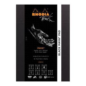 Rhodia Touch Maya Black Pad A5 Cross n Dot
