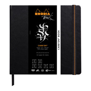 Rhodia Touch Carb'on Black Book 210x210mm Blank