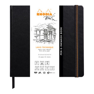 Rhodia Touch Pen and Inkwash Book 210x210mm Blank