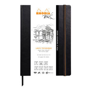 Rhodia Touch Pen and Inkwash Book A4 Portrait Blank