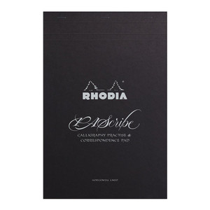Rhodia PAScribe Calligraphy Carb'on Black Pad A4+ Lined
