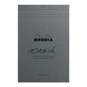 Rhodia PAScribe Calligraphy Maya Grey Pad A4+ Lined