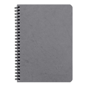 Age Bag Spiral Notebook A5 Lined Grey