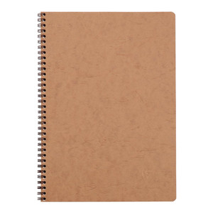 Age Bag Spiral Notebook A4 Lined Tobacco