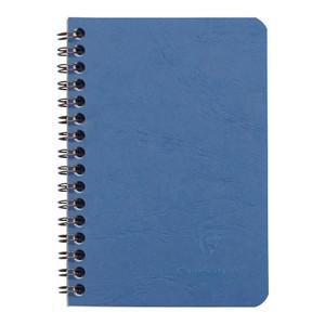 Age Bag Spiral Notebook Pocket Lined Blue
