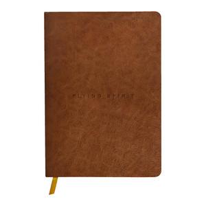 Flying Spirit Clothbound Journal A5 Lined Cognac