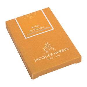 Jacques Herbin Essential Ink Cartridge Ambre de Baltique Pack of 7