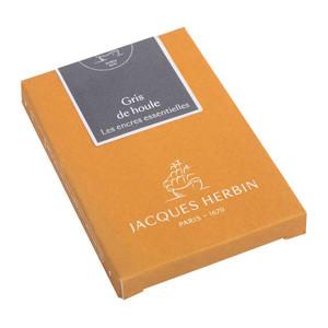 Jacques Herbin Essential Ink Cartridge Gris de Houle Pack of 7