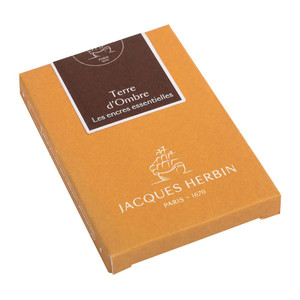 Jacques Herbin Essential Ink Cartridge Terre d'Ombre Pack of 7