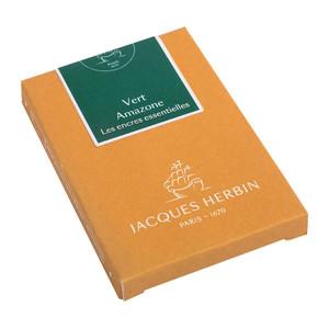 Jacques Herbin Essential Ink Cartridge Vert Amazone Pack of 7