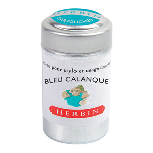 Herbin Writing Ink Cartridge Bleu Calanque Pack of 6