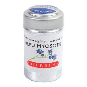 Herbin Writing Ink Cartridge Bleu Myosotis Pack of 6