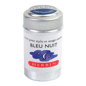 Herbin Writing Ink Cartridge Bleu Nuit Pack of 6