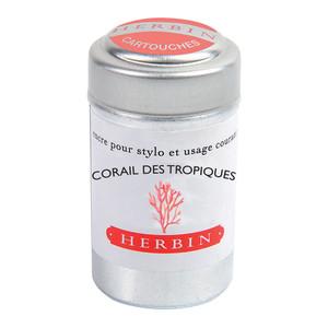 Herbin Writing Ink Cartridge Corail des Tropiques Pack of 6