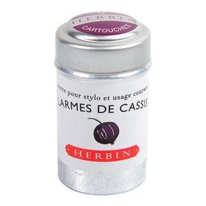 Herbin Writing Ink Cartridge Larmes de Cassis Pack of 6