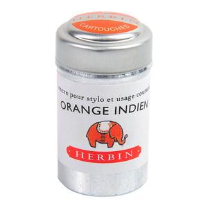 Herbin Writing Ink Cartridge Orange Indien Pack of 6