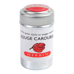 Herbin Writing Ink Cartridge Rouge Caroubier Pack of 6
