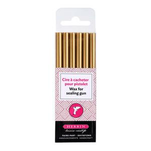 Herbin Wax Gun Sticks Gold Pack of 6