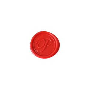Herbin Wooden Handle Round Seal Copperplate P