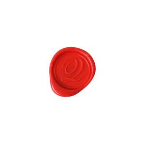 Herbin Wooden Handle Round Seal Copperplate Q