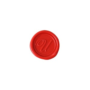 Herbin Wooden Handle Round Seal Copperplate U