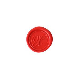 Herbin Wooden Handle Round Seal Copperplate X