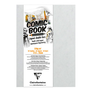 Clairefontaine Comic Book 176x250mm 220g 32sh
