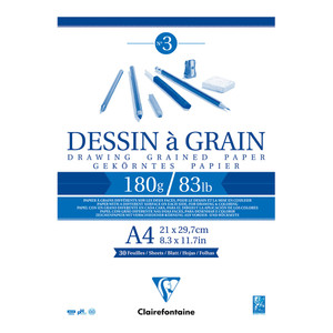 Clairefontaine Drawing Pad Grain A4 180g 30sh