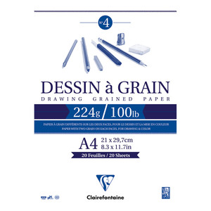 Clairefontaine Drawing Pad Grain A4 224g 20sh