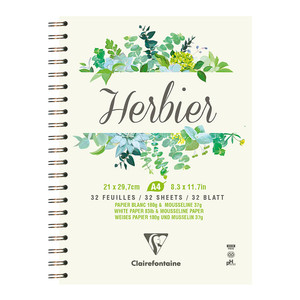 Clairefontaine Herbier Spiral Book A4 180g 32sh
