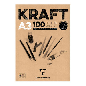 Clairefontaine Kraft Pad A3 100sh