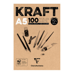 Clairefontaine Kraft Pad A5 100sh