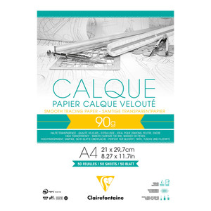 Clairefontaine Tracing Pad A4 90g 50sh