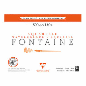 Fontaine Hot Press Pad 24x30cm 300g 12sh
