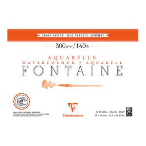 Fontaine Hot Press Pad 26x36cm 300g 20sh