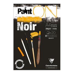 PaintON Pad Black A4 30sh
