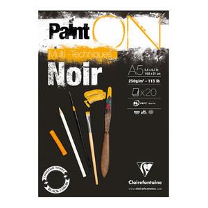 PaintON Pad Black A5 30sh