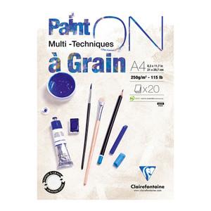 PaintON Pad Grain White A4 20sh