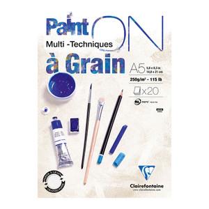PaintON Pad Grain White A5 20sh
