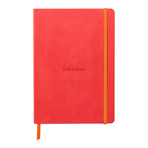 Rhodiarama Softcover Notebook A5 Lined Coral