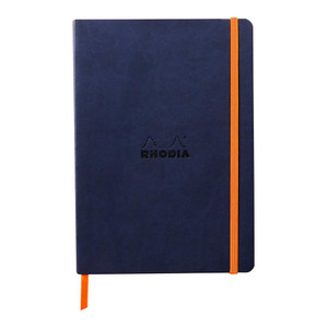 Rhodiarama Softcover Notebook A5 Lined Midnight