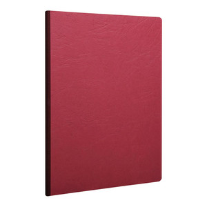 Age Bag Clothbound Notebook A4 Blank Red