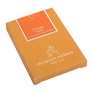 Jacques Herbin Essential Ink Cartridge Orange Soleil Pack of 7