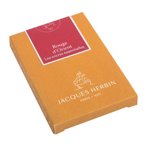 Jacques Herbin Essential Ink Cartridge Rouge d'Orient Pack of 7