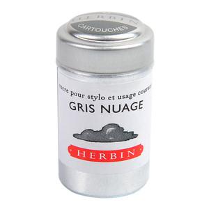 Herbin Writing Ink Cartridge Gris Nuage Pack of 6